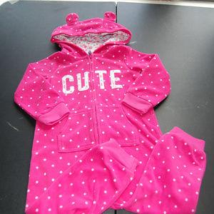 Fleece Warm Jumpsuit